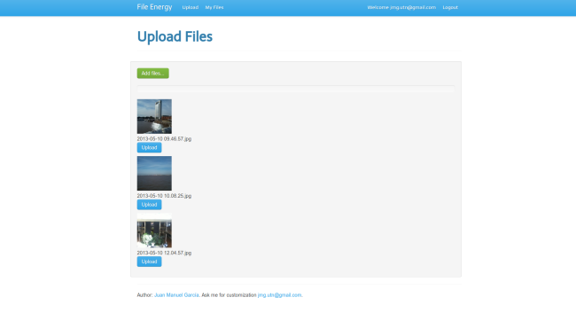 Filenergy – A simple file sharing tool written in python using flask
